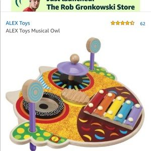 NEW Alex Toys Musical Owl Wooden Toy Instrument